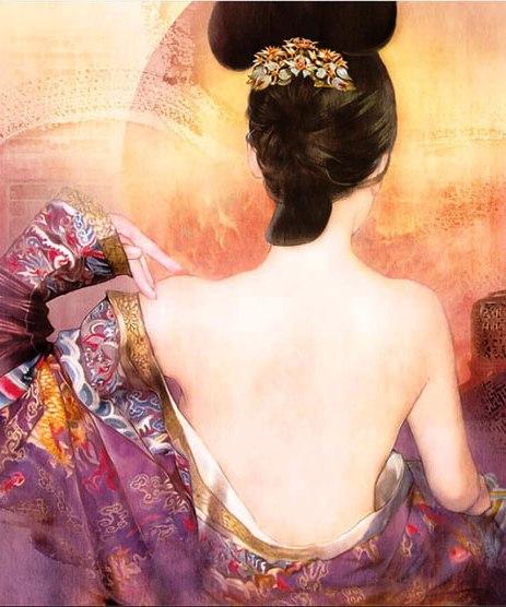 Нежнее шёлка — хрупкая и экзотическая красота китаянок в работах тайваньской художницы