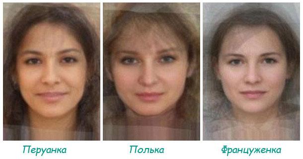 «Усреднённая» внешность женщины  Подробнее на странице