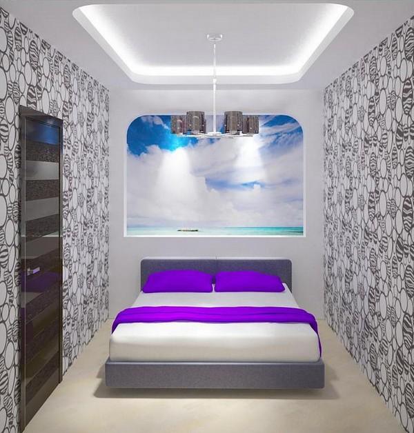 Дизайн спальни где нет окон
