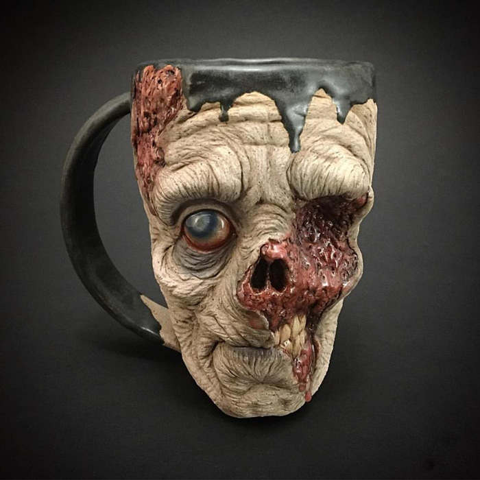 Now You Can Drink Your Morning Coffee From A Zombie Head