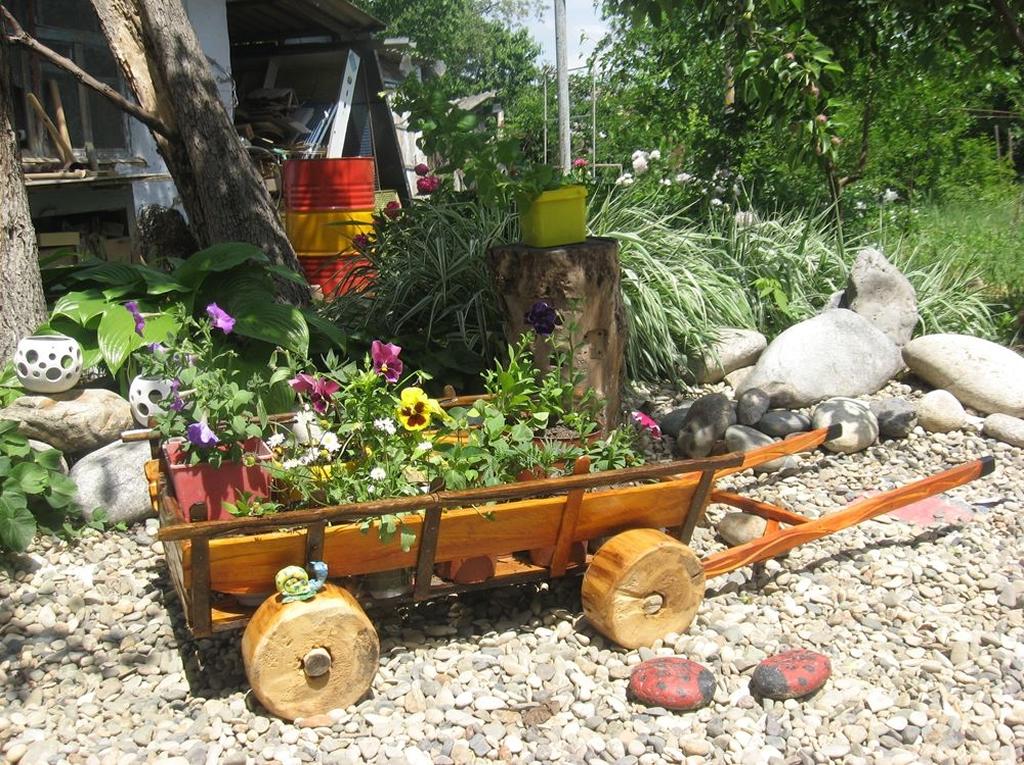 Воз для сада своими руками