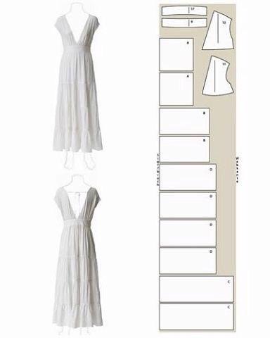 Шьем платья. Простые выкройки.