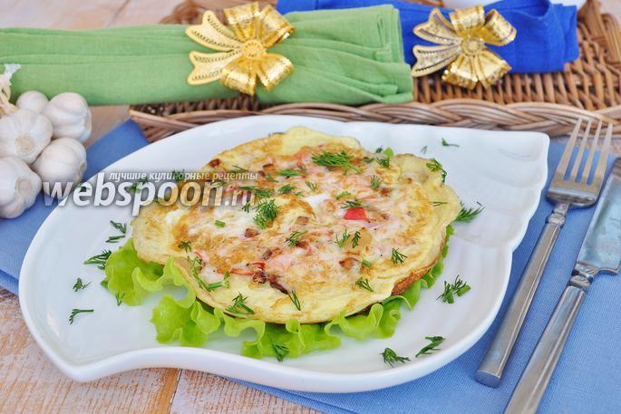 яичница с крабовыми палочками рецепт с фото