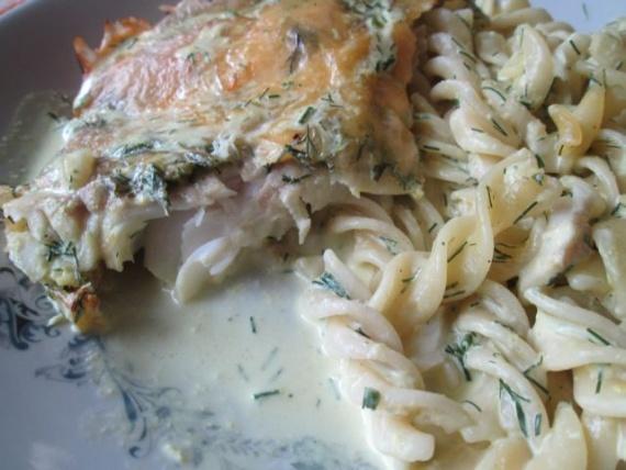 Рыба макаронами рецепт фото