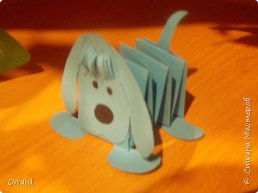 Собачка из бумаги детские поделки из