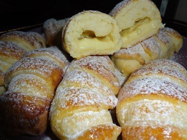 Очень вкусные воздушные булочки, даже похоже на вкус пирожное