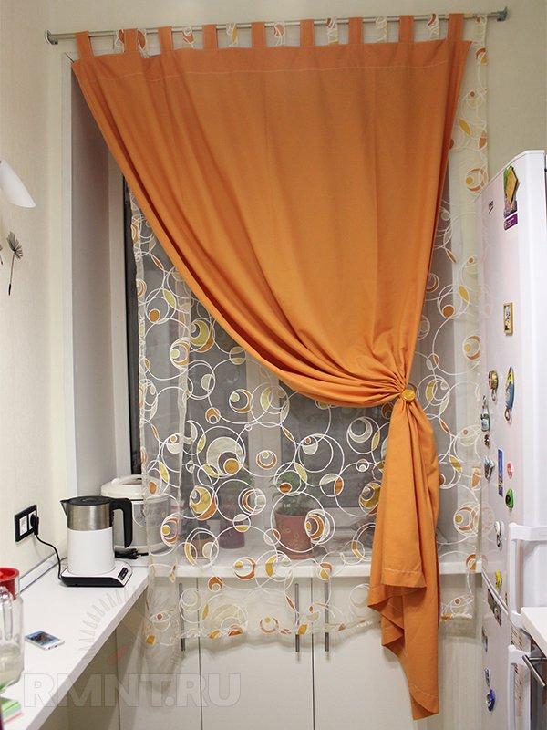 Пошив штор своими руками на кухню фото