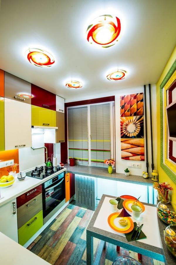 До и после ремонта: яркая кухня-трансформер площадью 6 кв.метров