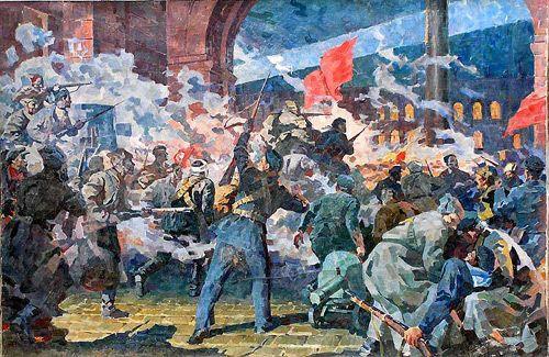 101 год Октябрьской революции и 77-летие военного парада 1941 года