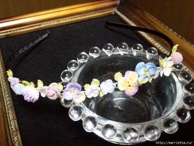 Украшение и декор предметов цветочками крючком (10) (640x480, 170Kb)
