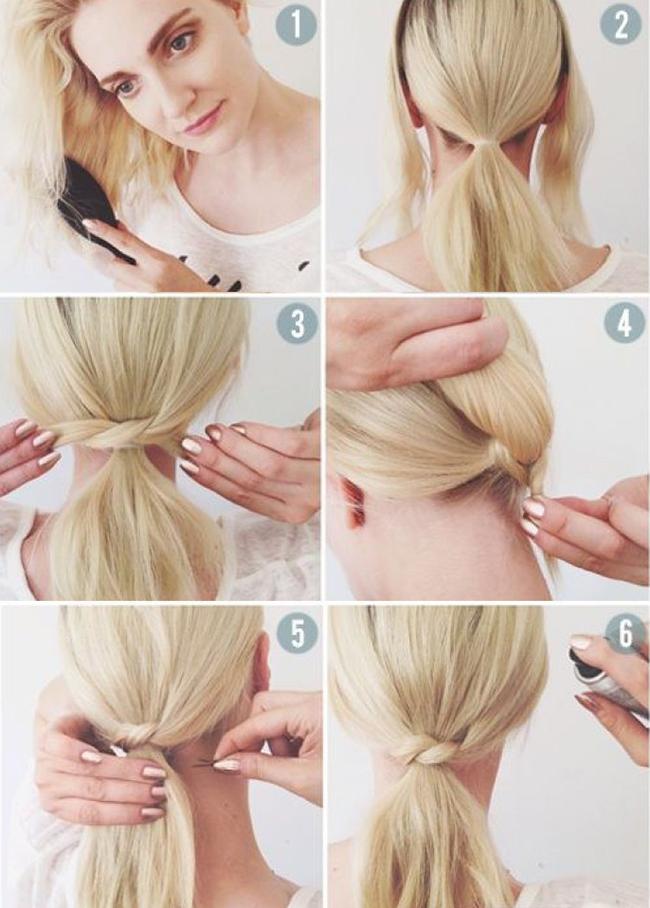 как сделать хвост из волос