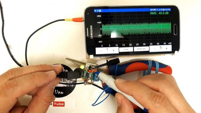 Простой самодельный осциллограф из смартфона