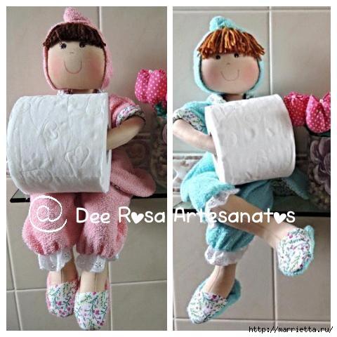 Текстильные куклы держатели туалетной бумаги мастер класс 164