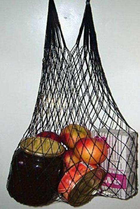 Сетчатая сумка, с которой ходили за продуктами.