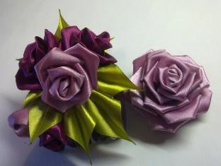 Роза Канзаши.