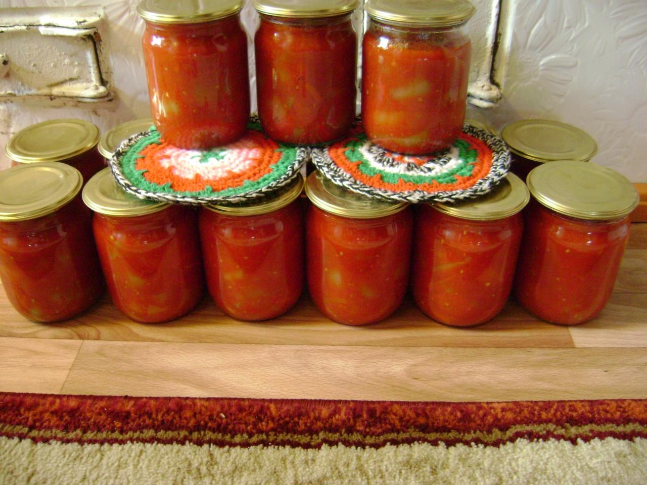 Лечо из перцев и томатов