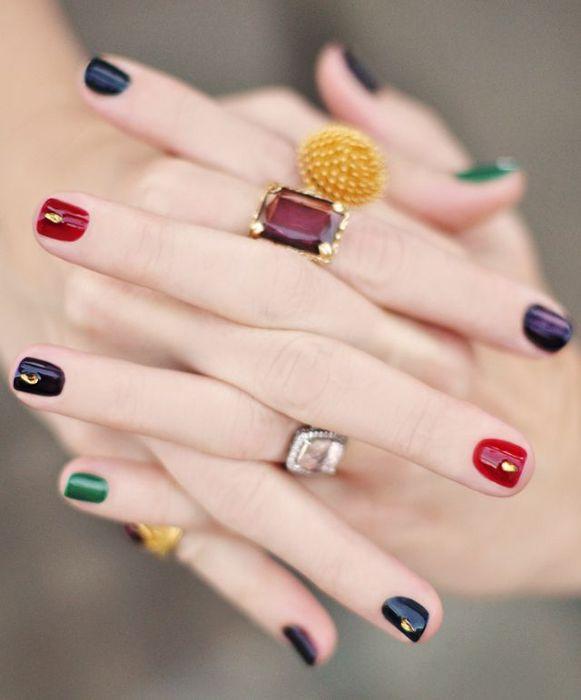 Модные накрашенные ногти