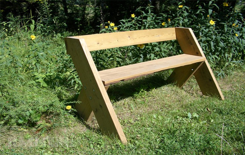 Сделать скамейки для дачи своими руками