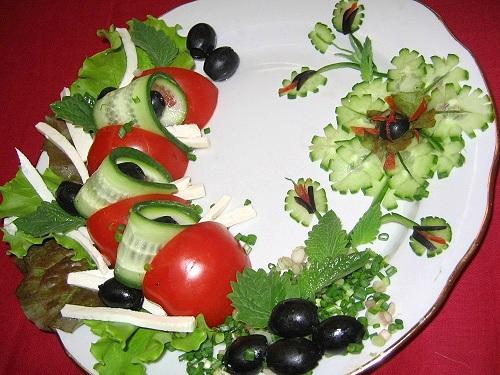 Украшение греческого салата фото