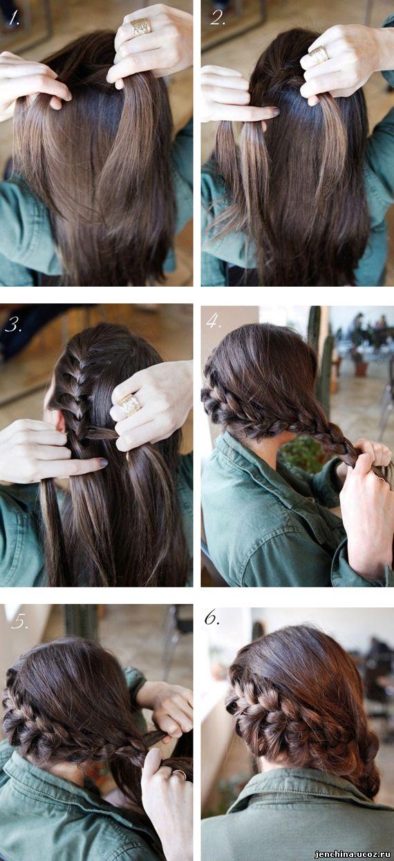 Прическа на длинные волосы фото своими руками