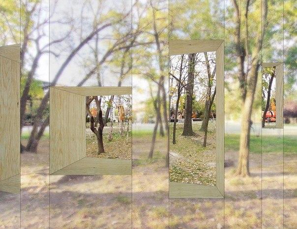 Зеркальный дом-невидимка в Нью-Йорке