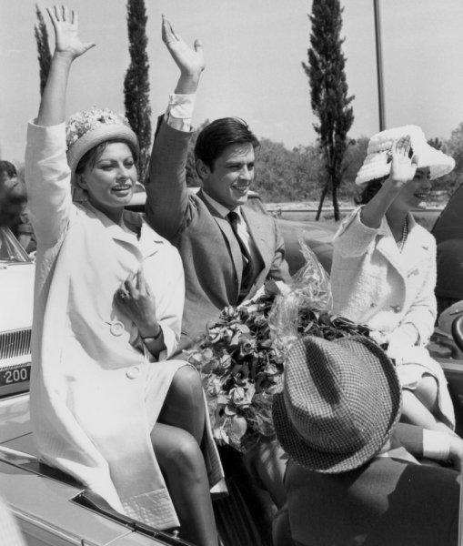 Роми Шнайдер и Ален Делон на Каннском кинофестивале 1962 г.