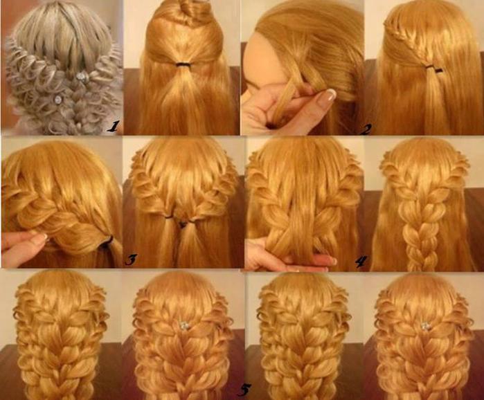 Прически с кудрями на средние волосы для круглого лица
