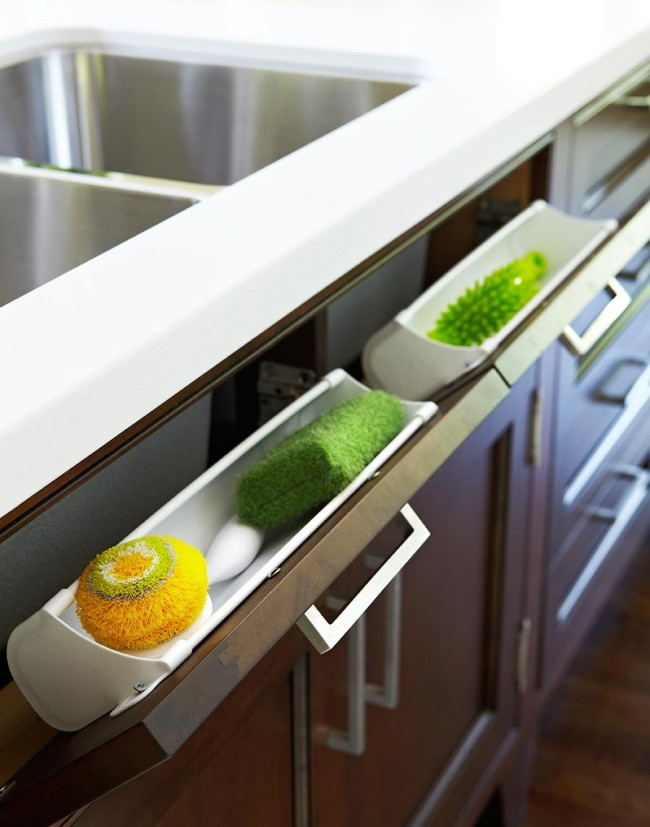 16 чертовски удобных способов сэкономить место на кухне инвентарь, кухня, утварь