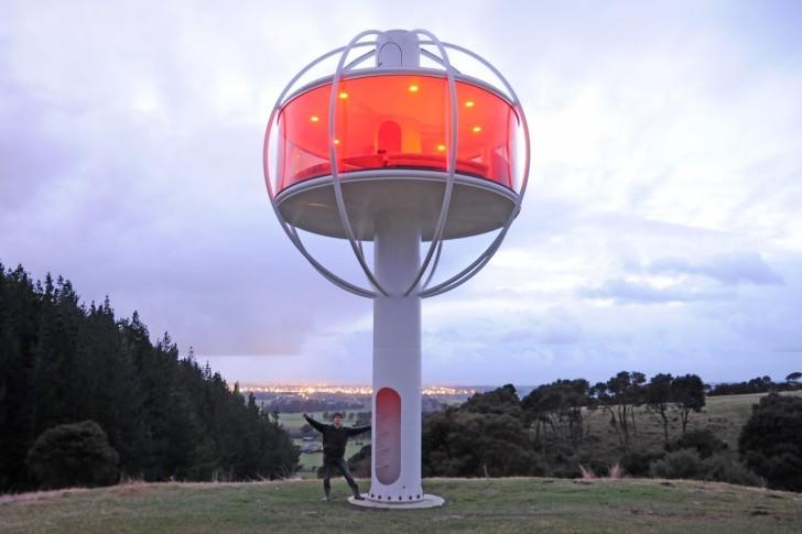 Skysphere — башня с комнатой под управлением Android