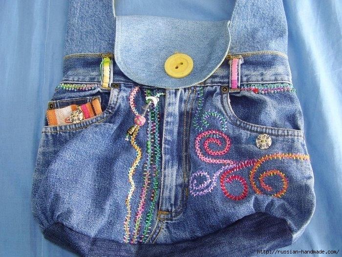 Модные сумки из старых джинсов (13) (700x525, 315Kb)
