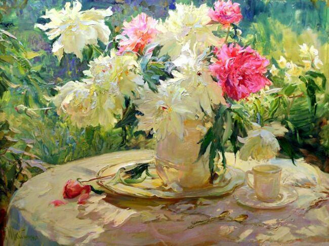 пионы букеты цветов