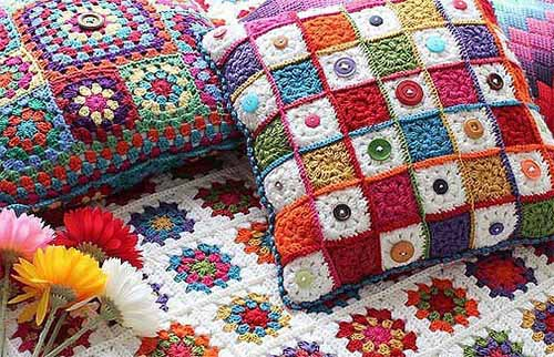 Вязание подушек покрывал ковриков