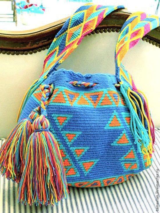 Вязание мексиканских сумок 84