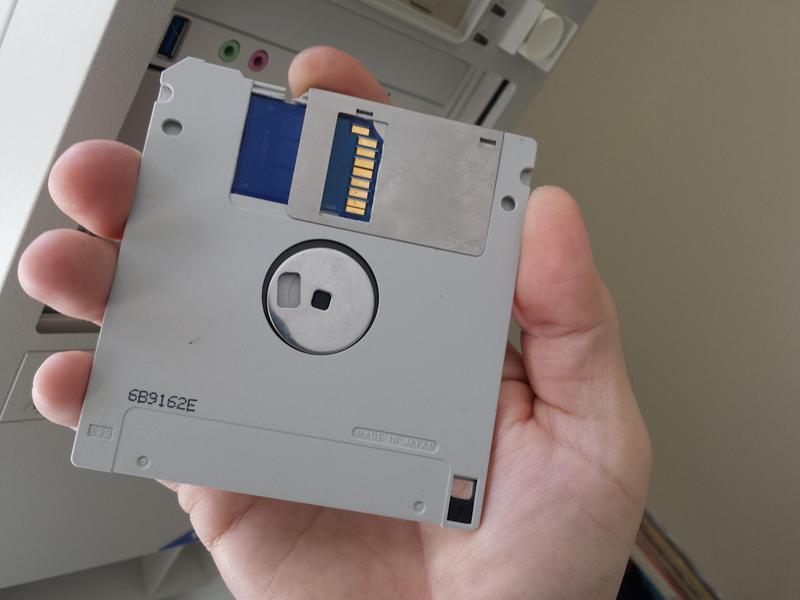 Дискета на 128 Gb: оригинальная модификация персонального компьютера