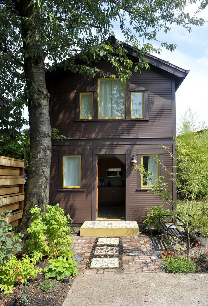 Компактный, но уютный домик для гостей архитектура, дизайн, интерьер