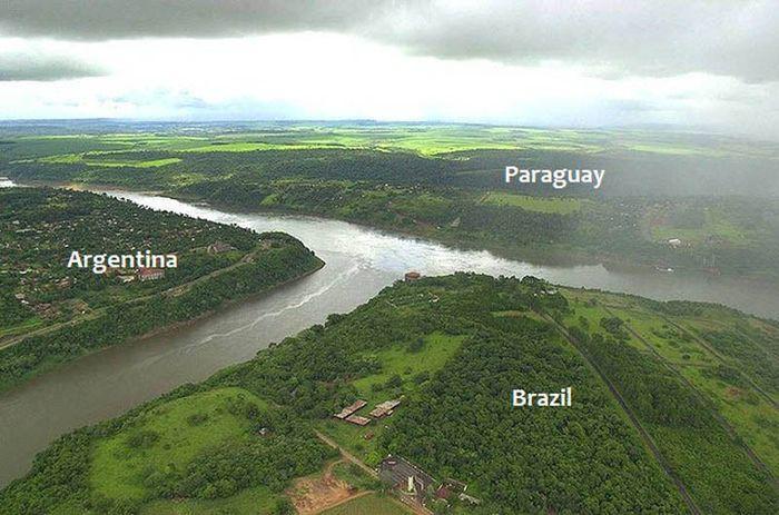 3. Аргентина, Бразилия и Парагвай в мире, граница