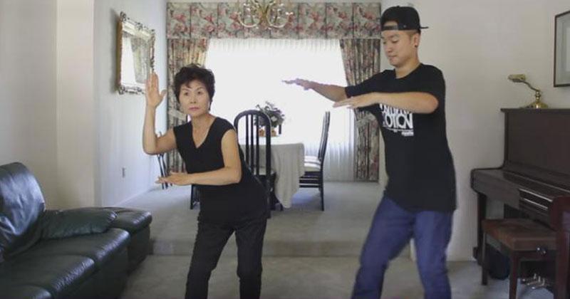 Мама попросила научить ее танцевать, а сын засмеялся. Но потом он увидел, как она двигается…