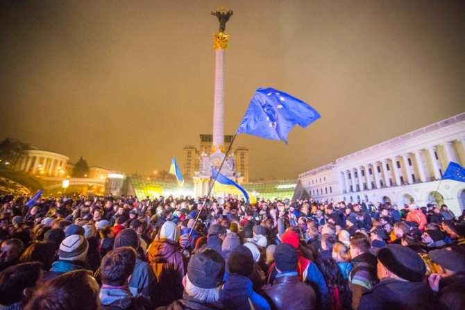 Украина. 21 ноября — чёрно-к…