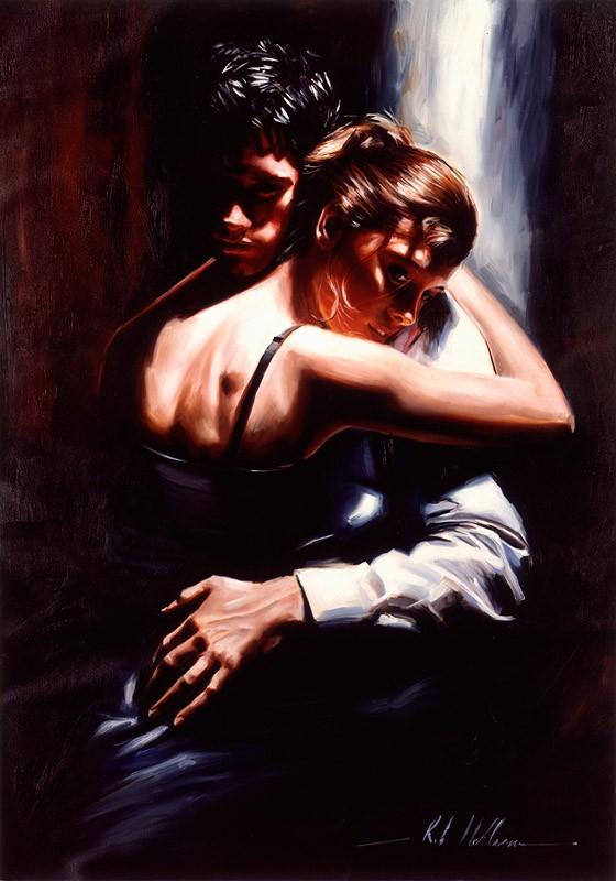 Женские образы - романтические картины Rob Hefferan