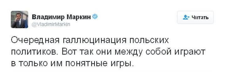 Маркин назвал заявление МИД Польши о катастрофе под Смоленском «галлюцинацией»