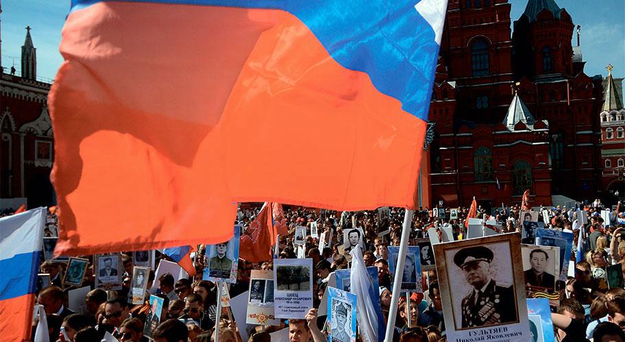 В День Победы 12 миллионов человек по всей России приняли участие в народной акции «Бессмертный полк»
