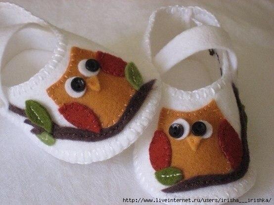 Обувь из фетра для малышей