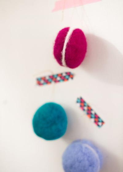 DIY Felted French Macaron Ornaments