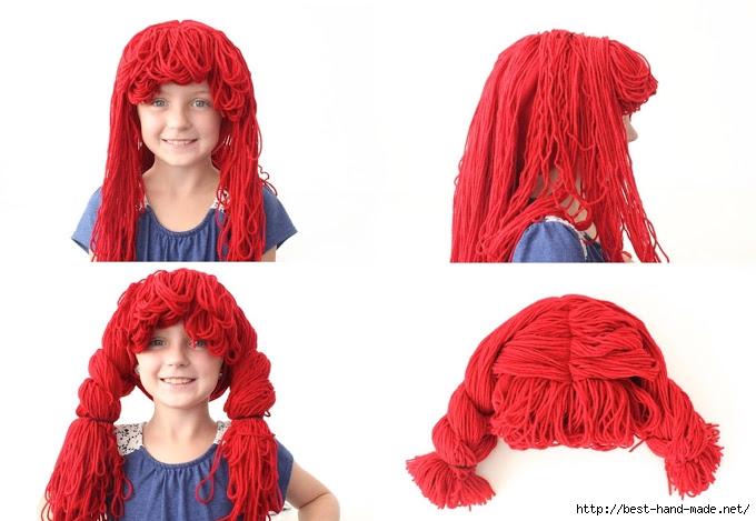 Как сделать парик своими руками из пряжи