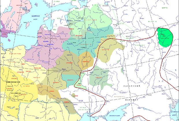 Народы Восточной Европы в IX веке нашей эры.