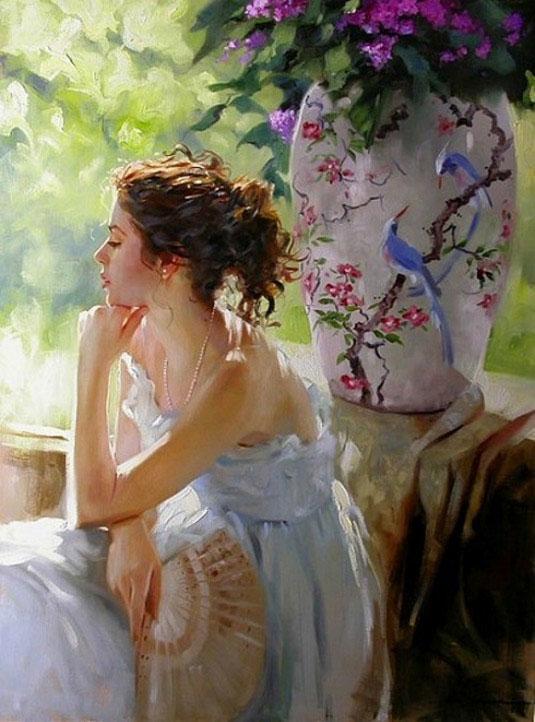 Лёгкие женские образы в работах художника Ричарда Джонсона (Richard Johnson)