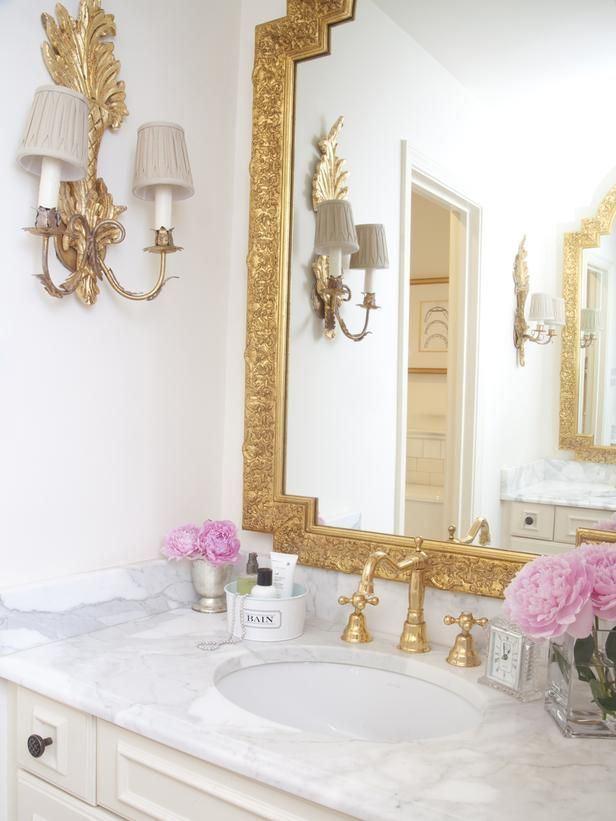 Дизайн ванной комнаты во французском стиле