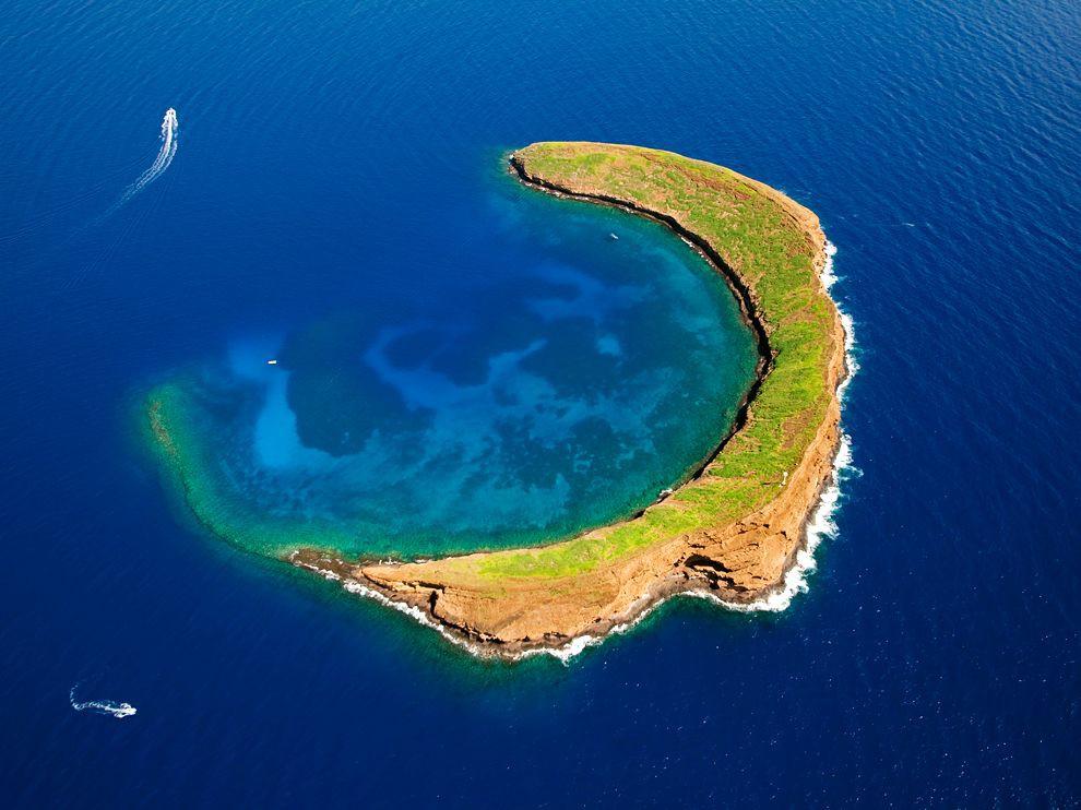 7. Остров в форме полумесяца, Гавайи, США в мире, остров