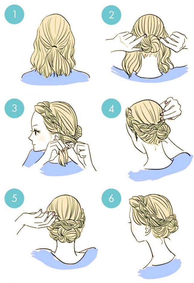 Как сделать прическу с короткими волосами простую
