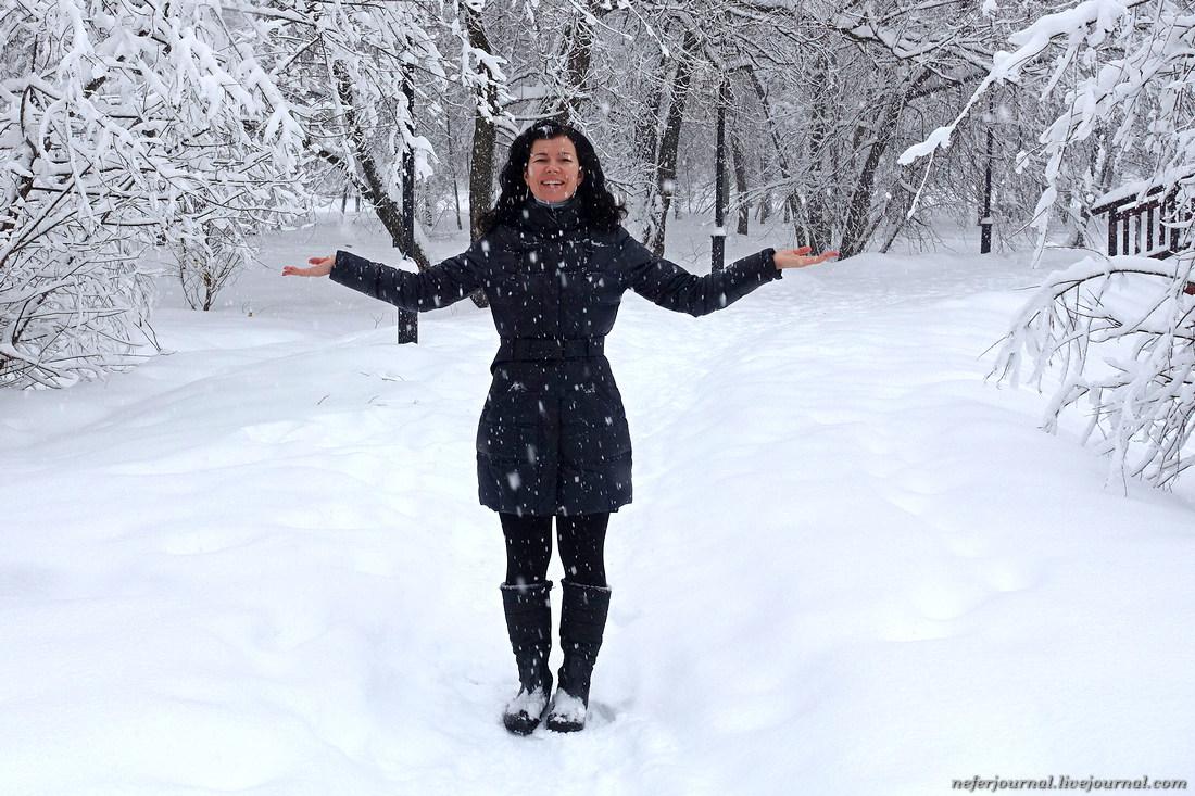 В Москве выпало рекордное количество снега.